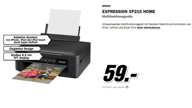 Epson Expression Home XP-215 © Media Markt