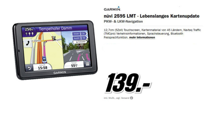 Garmin nüvi 2595LMT Europe © Media Markt