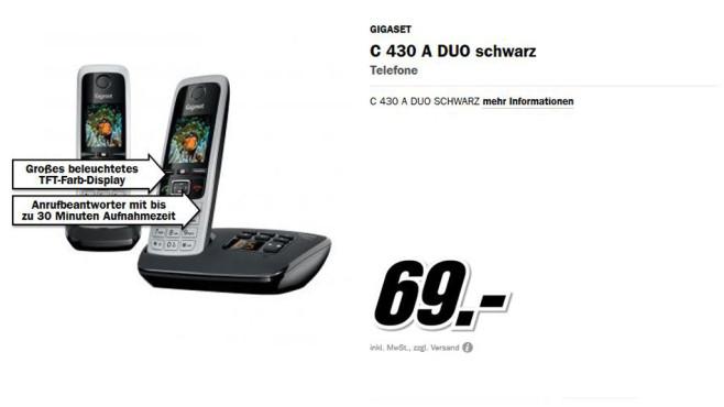 Gigaset C430A Duo ©Media Markt