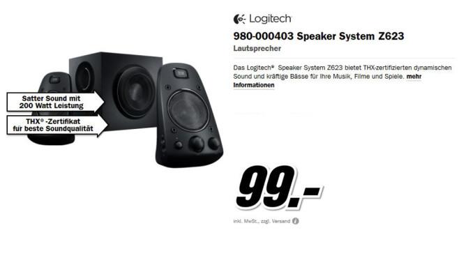 Logitech Z623 ©Media Markt