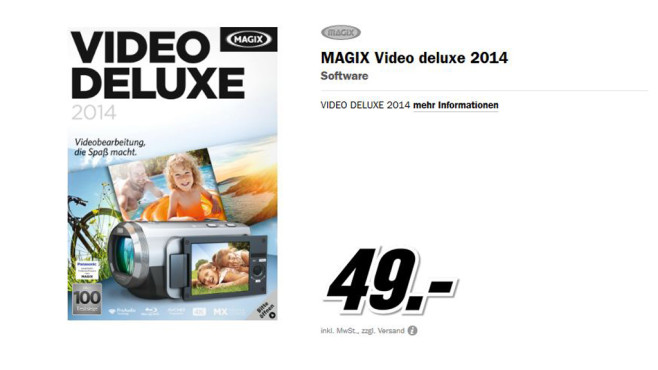 Magix Video deluxe 2014 © Media Markt