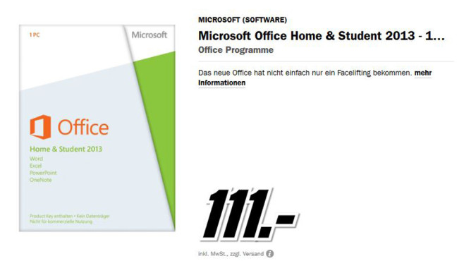 Microsoft Office 2013 Home and Student © Media Markt
