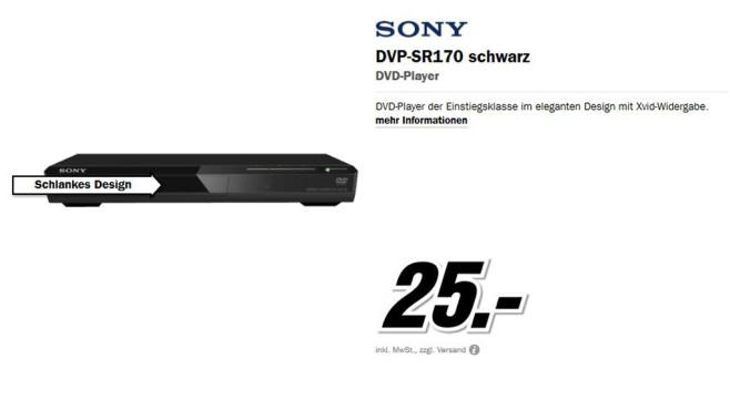Sony DVP-SR170 ©Media Markt