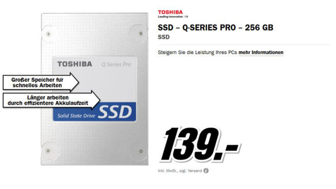 Toshiba SSD Q-Series Pro ©Media Markt