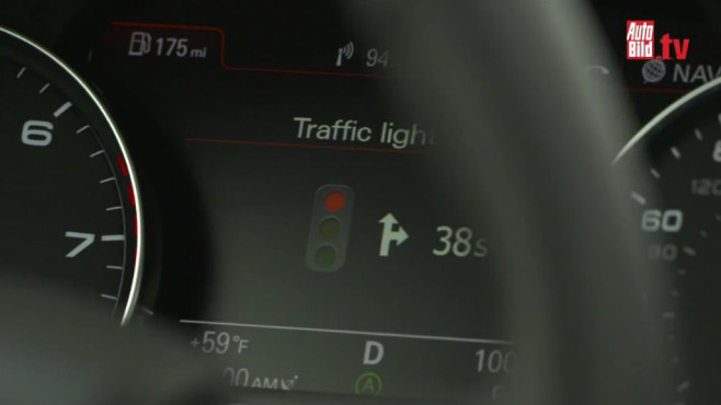 Audi Traffic Light Control © AUTO BILD