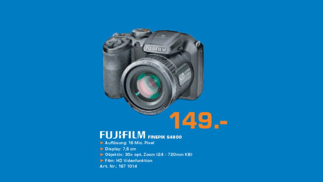 Fujifilm FinePix S4800 © Saturn
