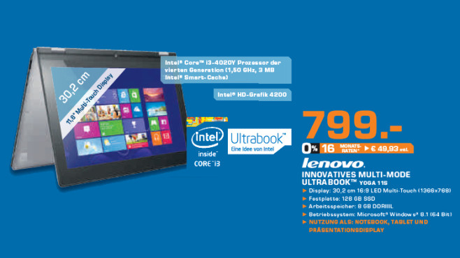 Lenovo IdeaPad Yoga 11S (59393621) © Saturn