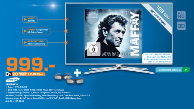 Samsung UE55F6510 ©Saturn
