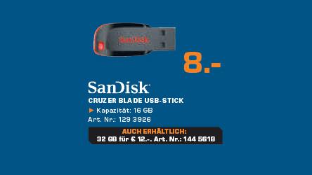 Sandisk Cruzer Blade 16GB ©Saturn
