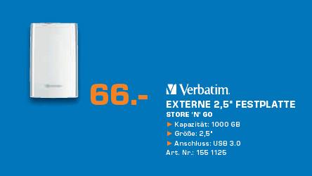 Verbatim Store 'n' Go USB 3.0 1TB ©Saturn