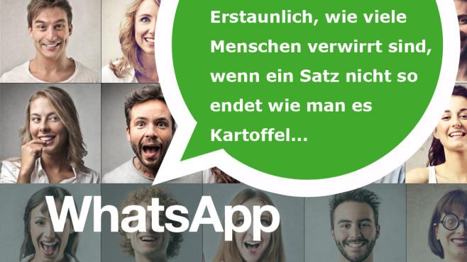 Die coolsten WhatsApp-Statussprüche ©WhatsApp