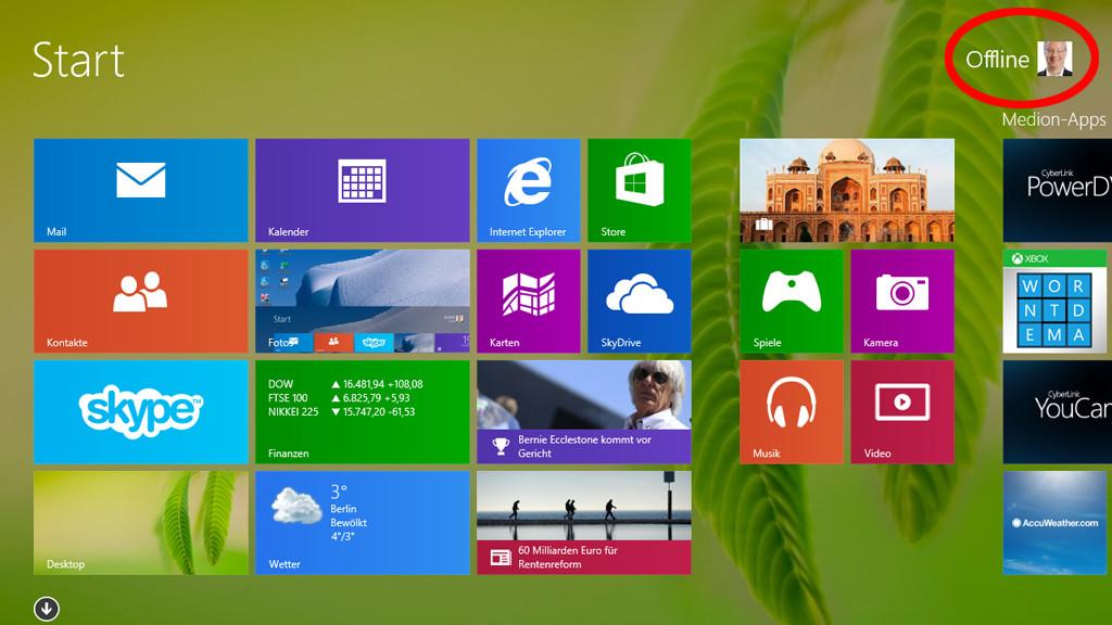 ohne anmeldung windows 8