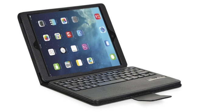 DONZO IS11-I5 Echt Ledertasche inkl. QWERTZ Bluetooth Tastatur © Amazon