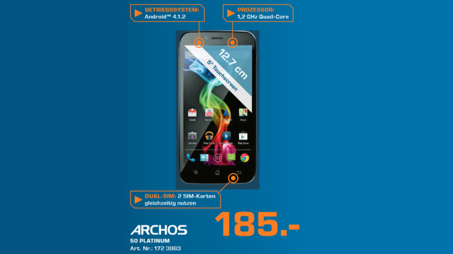 Archos 50 Platinum © Saturn
