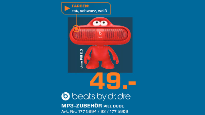 Beats by Dr. Dre Pill Dude © Saturn