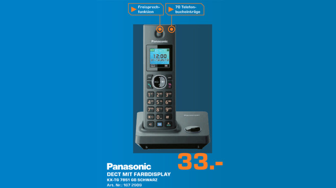 Panasonic KX-TG7851 Single © Saturn