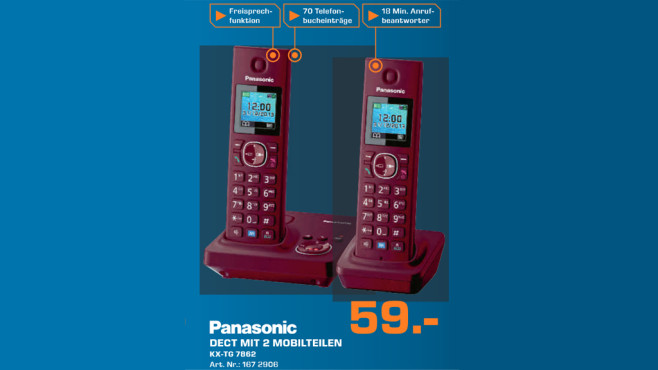Panasonic KX-TG7852 Duo © Saturn