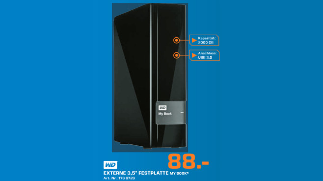 Western Digital My Book Essential USB 3.0 2TB © Saturn