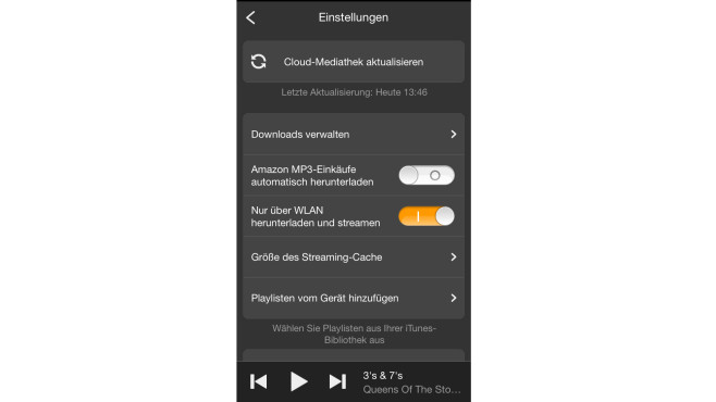 Amazon Cloud Player - Schritt 3: Einstellungen © Computer Bild