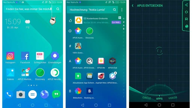 Apus Launcher © Apus Group, COMPUTER BILD