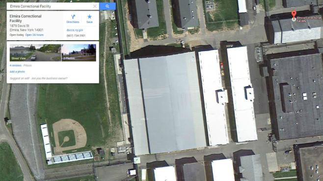 Elmira Correctional Facility, New York (USA) ©Google, COMPUTER BILD