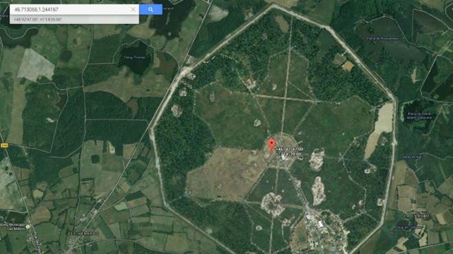 Längstwellensender bei Rosnay (Frankreich) ©Google, COMPUTER BILD