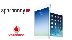Sparhandy: iPad Air mit Surf-Flat (4,5 Gigabyte) für nur 24,99 Euro im Monat! Sichern Sie sich das iPad Air mit LTE-Internet-Flat von Vodafone zum Sparpreis. ©Apple, Vodafone, Sparhandy