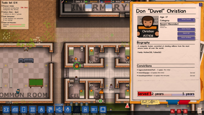 Prison Architect: Auf Augenhöhe © Introversion Software