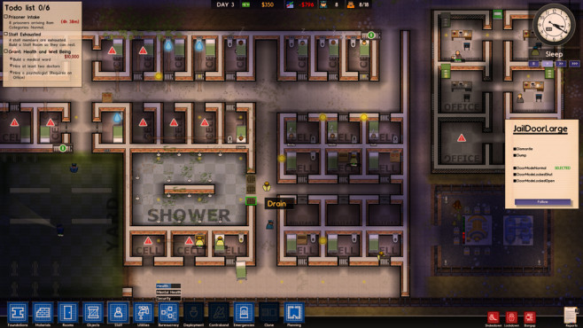 Prison Architect: Sanitäre Anlagen © Introversion Software