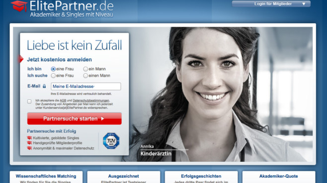 Partnersuche elitepartner