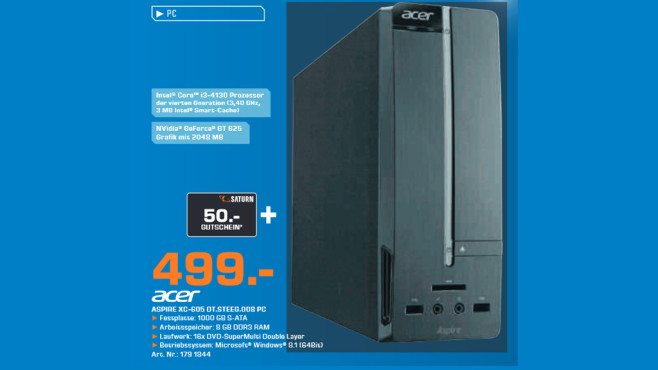 Acer Aspire XC-605 DT.STEEG.008 PC © Saturn