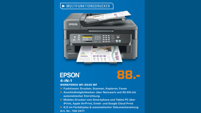 Epson Workforce WF-2540 WF © Saturn