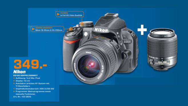 Nikon D3100 Doppelzoomkit ©Saturn