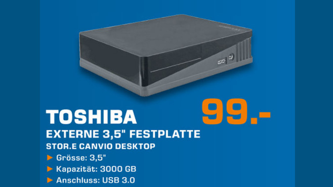 Toshiba Stor.e Canvio Desktop © Saturn
