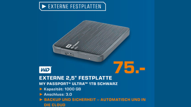 WD My Passport Ultra 1TB © Saturn