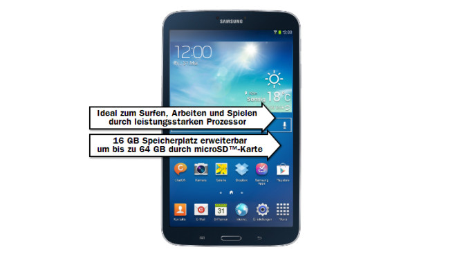 Samsung Galaxy Tab 3 8.0 16GB WiFi © Media Markt