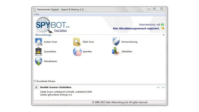 Spybot – Search & Destroy © COMPUTER BILD