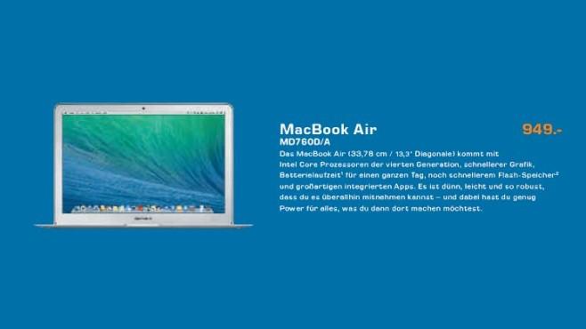 """Apple MacBook Air 13"""" (MD760D/A) ©Saturn"""