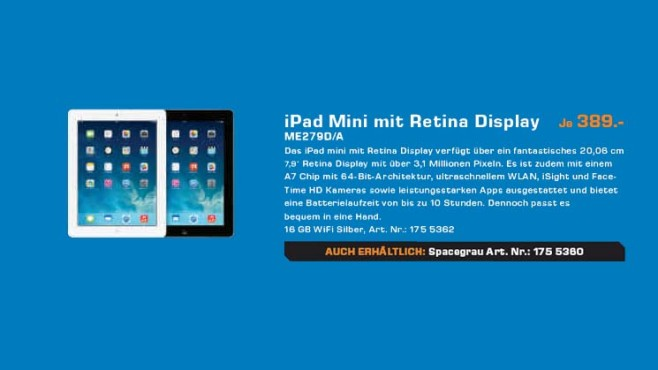 Apple iPad mini Retina © Saturn