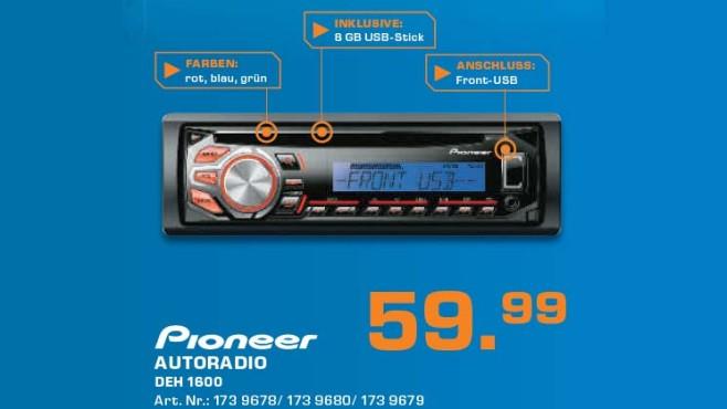 Pioneer DEH-1600UB ©Saturn
