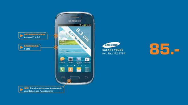 Samsung Galaxy Young © Saturn