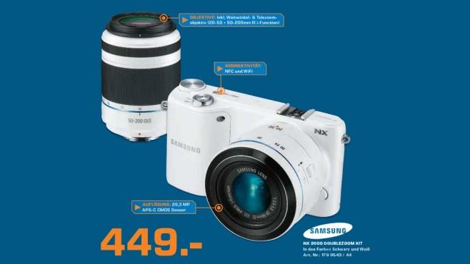Samsung NX2000 Kit 20-50 mm + 50-200 mm ©Saturn