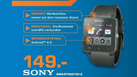 Sony SmartWatch 2 SW2 ©Saturn