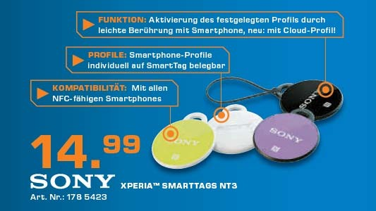 Sony Xperia SmartTags NT3 © Saturn