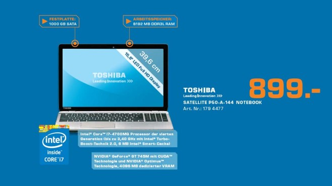 Toshiba Satellite P50-A-144 © Saturn