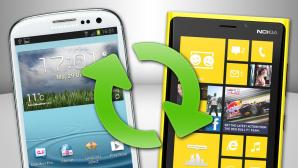 Daten von Handy zu Handy übertragen ©Samsung, Nokia, Microsoft