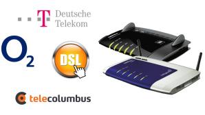 Verivox: Die günstigsten DSL-Tarife ab 50.000 Kbps inklusive WLAN-Router ©Torbz - Fotolia.com, AVM, 1&1, Deutsche Telekom, Tele Columbus