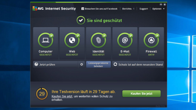 AVG Internet Security 2016 © COMPUTER BILD
