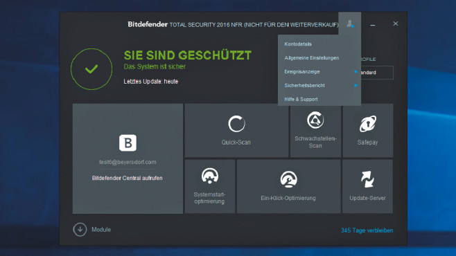 Bitdefender Internet Security 2016 © COMPUTER BILD