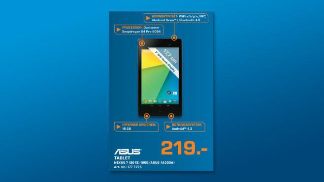 Asus Google Nexus 7 (2013) WiFi 16GB ©Saturn